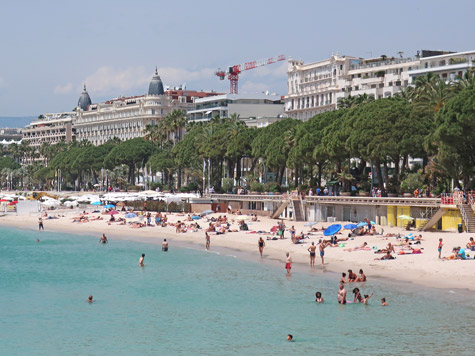 Beach at Cannes France on the French Riviera