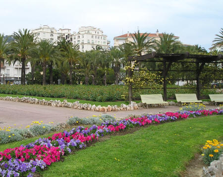 Cannes Park on the Mediterranean Sea