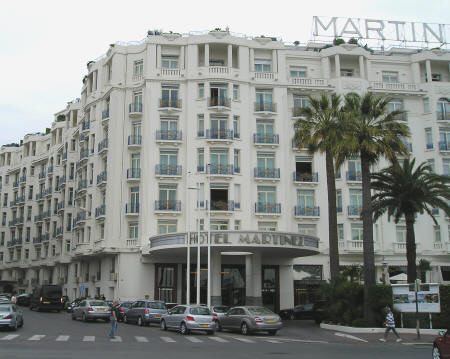 Martinez Hotel in Cannes France