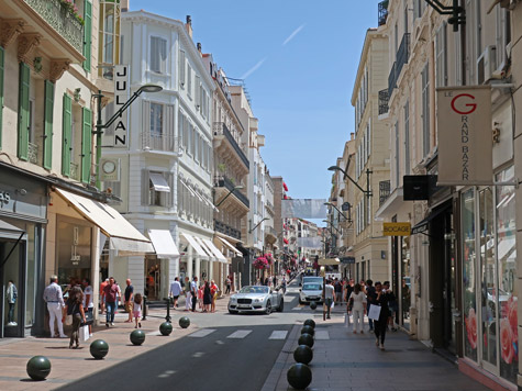Rue d'Antibes, Shopping Street in Cannes France