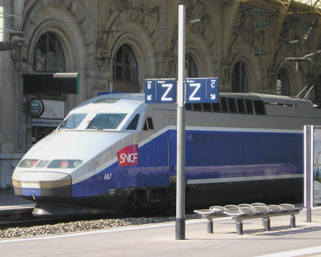 High-speed train to Cannes France - TGV